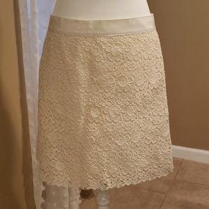 Ann Taylor LOFT Lace Detailed Skirt